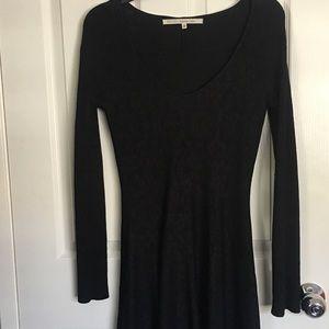 Rachel Roy Cheetah Print black dress